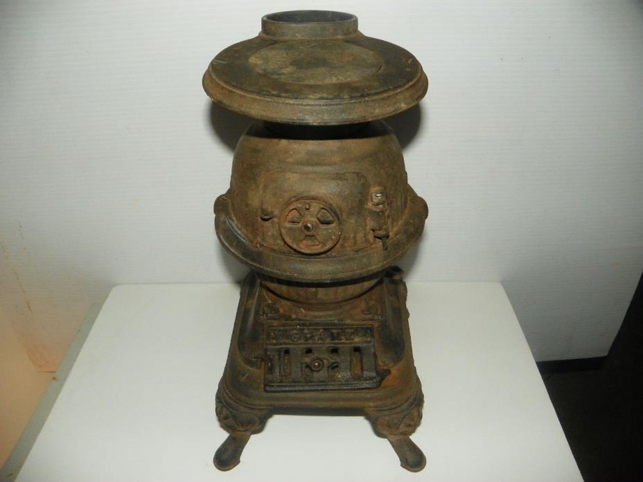SPARK SALESMAN SAMPLE POT BELLY STOVE VTG GREY IRON CASTING CO CRUSE WOOD WINE
