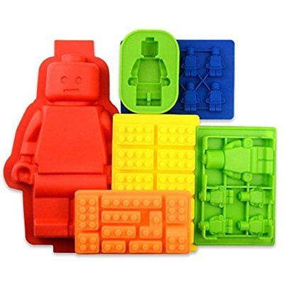 6 Candy Tray Molds For Lego Lovers Building Blocks And Figures Bpa Free