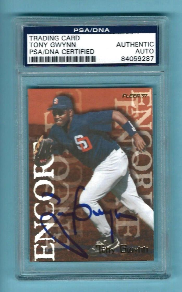 PSA  Auto Tony Gwynn 1997 Fleer Encore Baseball Card #702 Signed PADRES HOF RIP