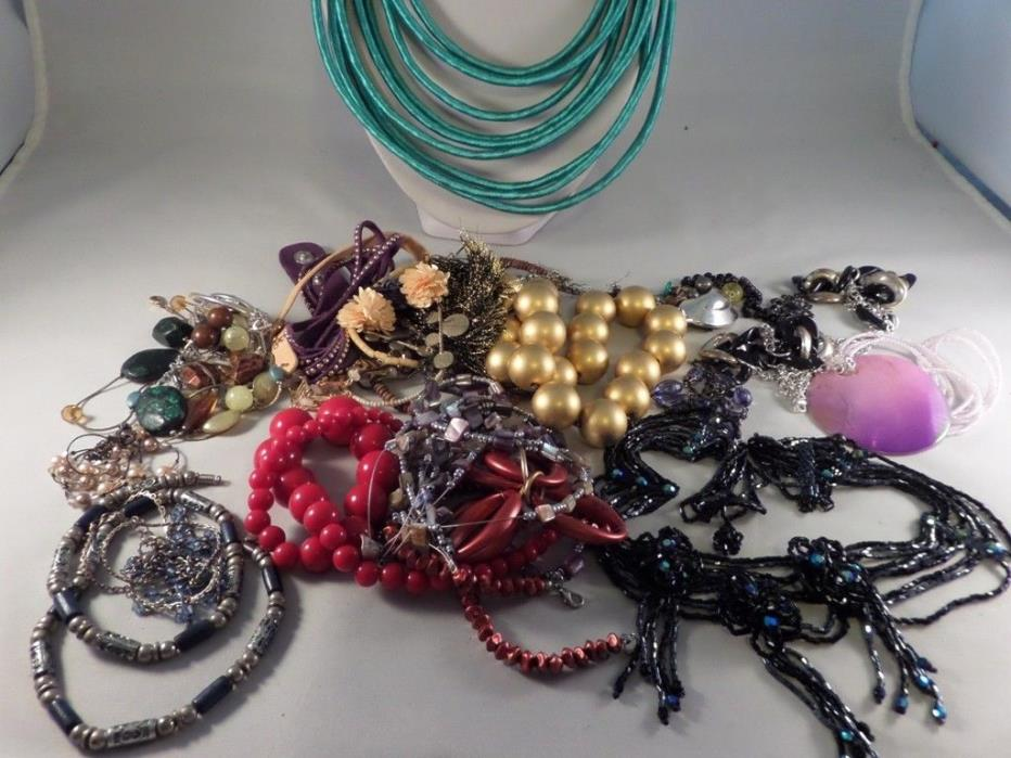 Damaged Jewelry Lot for Parts Repairs or Crafting J5