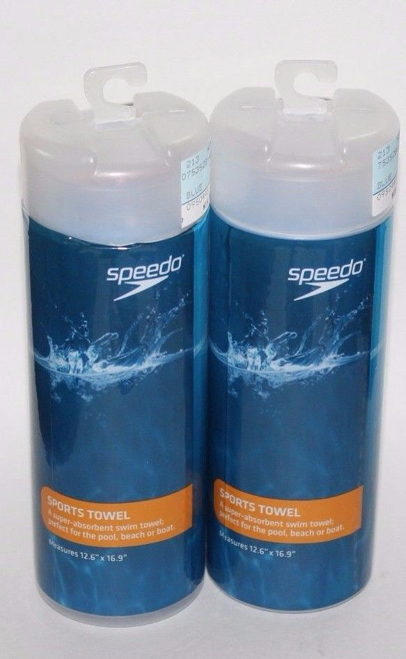 SPEEDO Sports Towel Blue NEW 12.6