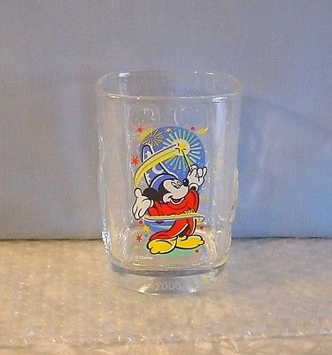 NEW! 2000 DISNEY WORLD MCDONALDS FANTASIA MICKEY MOUSE SQUARE DRINK GLASS
