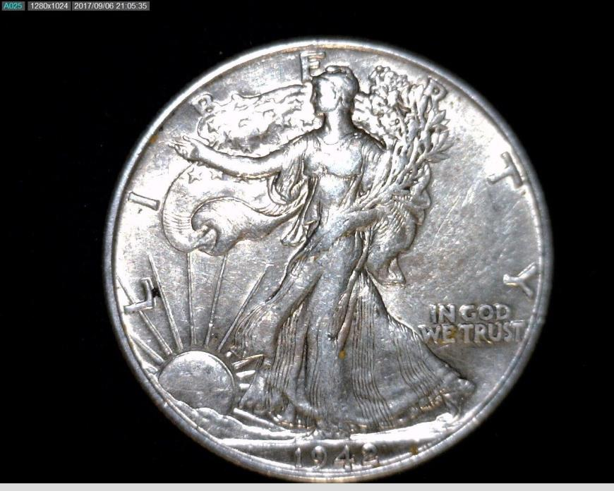 1942  Silver Walking Liberty Half Dollar #A272