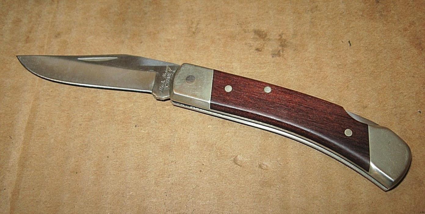 Vintage 1990s Winston Cigarette Schrade UNCLE HENRY Lock Blade Knife & Sheath
