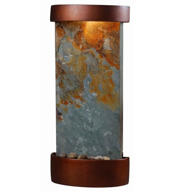 Relaxation Fountain Indoor Water Fountain Wall Table Mounted Lighted Waterfall