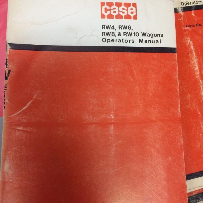 Case RW4, RW6, RW8, & RW10 wagons operators manual