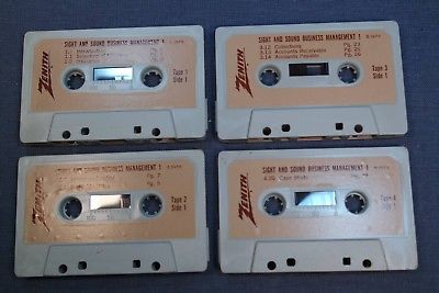 1978 Zenith Sight & Sound Business Management Radio Shop Audio Training 4 Tapes