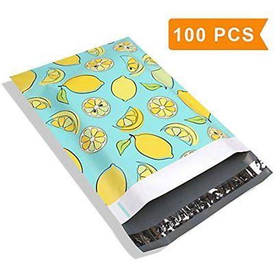 4 10X13 Lemon Designer Poly Mailers Envelopes Boutique Custom Bags