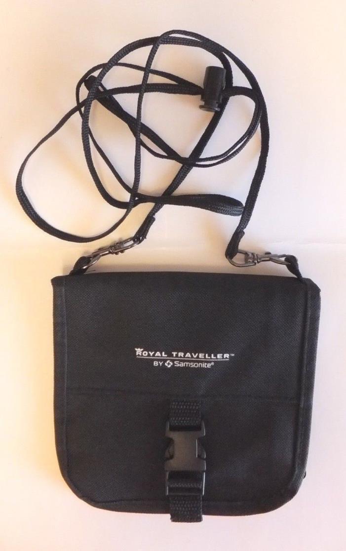 SAMSONITE ROYAL TRAVELER ID/ PASSPORT HOLDER NECK WALLET - BLACK