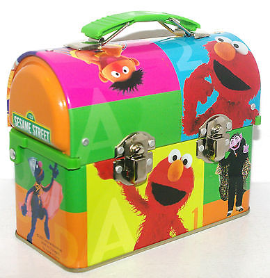 2005 SESAME STREET Gang SMALL Lunchbox Style Metal Tin Box Container