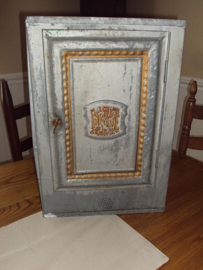 Vintage/Antique Bread Box Pie Safe Zinc Pie Cabinet Tin cupboard - Antique Pie Cabinet - For Sale Classifieds