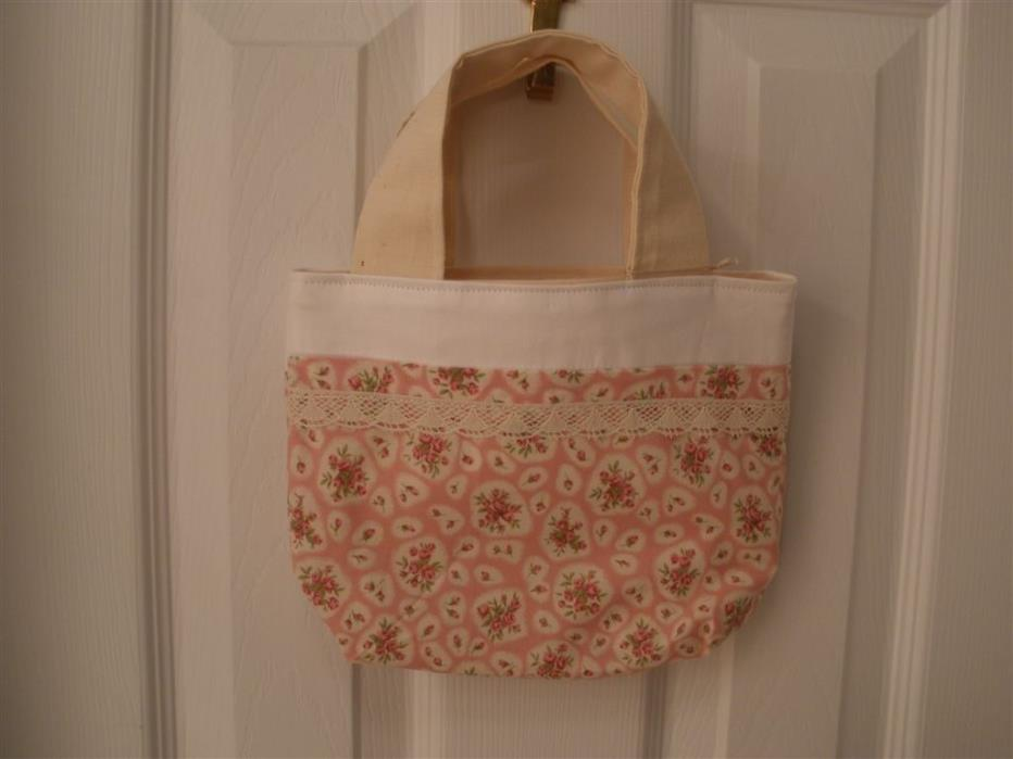 French Country Style Girls Tote in Upscale Liberty Fabric & Linen/Cotton Canvas