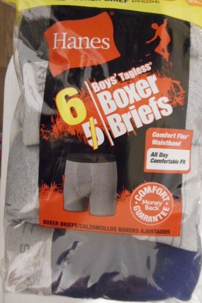 """Hanes®  BOY/'S  Boxer  Briefs  3-Pack    /""""TAGLESS /& COMFORTSOFT /""""   NEW"""