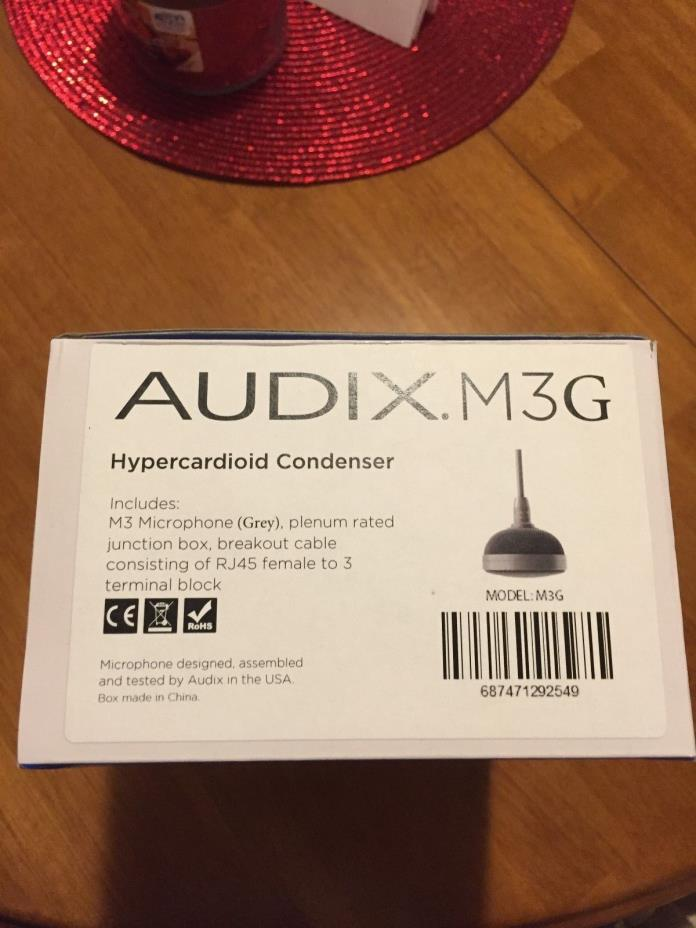Audix M3G Tri-Element Hanging Ceiling Microphone