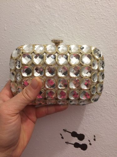 Kate Laundry Purse With Swarovski Crystals with chain
