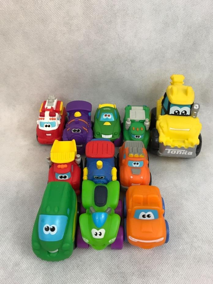 Tonka Little Trucks And Ployfect Toys Vehicle Mixed Lot Of 11 Gift Collectibles