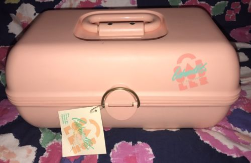 NWT Vintage Caboodles Cosmetics Organizer Carrying Case Make Up On The Go Coral