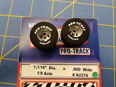 Pro Track # N2376 Daytona stockers 1 1/16 x .800 rear Tires 1/8 axle Mid America
