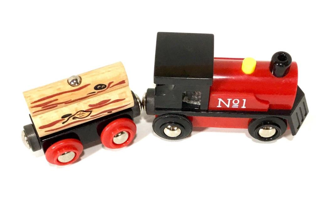 Brio Train Engine Number 1 Brio Lights and Sounds plus BONUS Brio Log Train Car