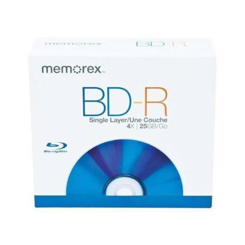 NEW Memorex 5UIVzq1 5PK BD-R Blu-ray Disc Recordable Single Layer HD 25GB