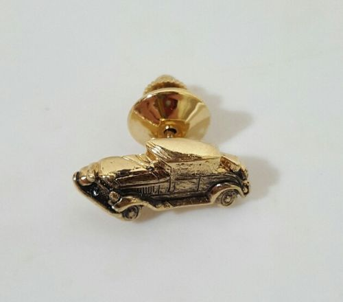 Vintage Car Pin Tie Tac Lapel Hat Retro Jewelry Avon Gold Tone