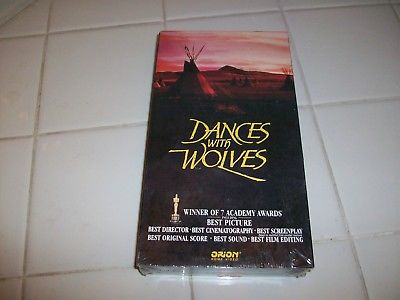 DANCES WITH WOLVES (VHS, 1990) KEVIN COSTNER, MARY MCDONNELL NEW/SEALED CC