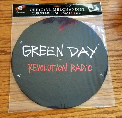 Green Day slipmat set, licensed offical Rev Rad turntable slipmats set of 2