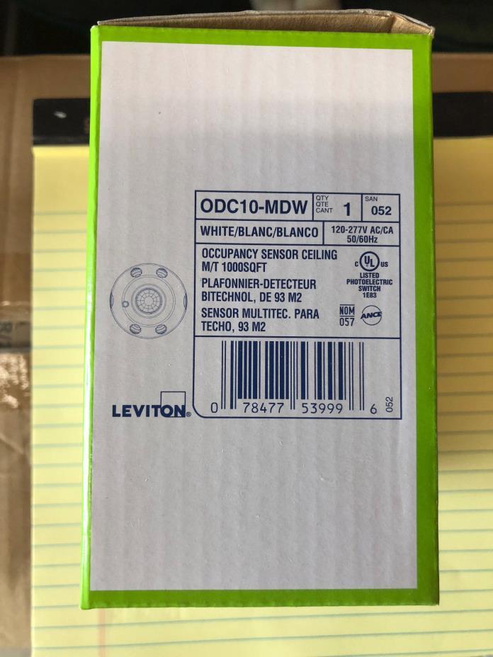 Leviton ODC10MDW Odc Series Multi-Technology Occupancy Sensors