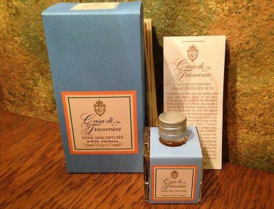 Casa di Francesca WHITE JASMINE MINI Home Diffuser - 1.7 oz - Square Bottle NIB