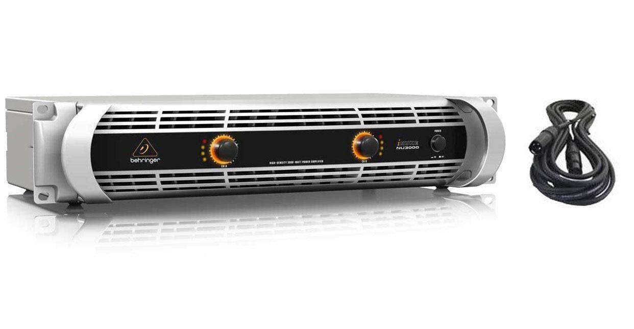 NEW Behringer NU3000 iNUKE 3000 Watt Power Amplifier & FREE XLR CABLE