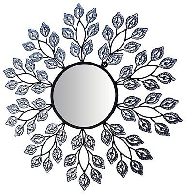 Lulu Decor Decorative Leaf Metal Wall Mirror Mirror2 Mirrors Home Décor Garden
