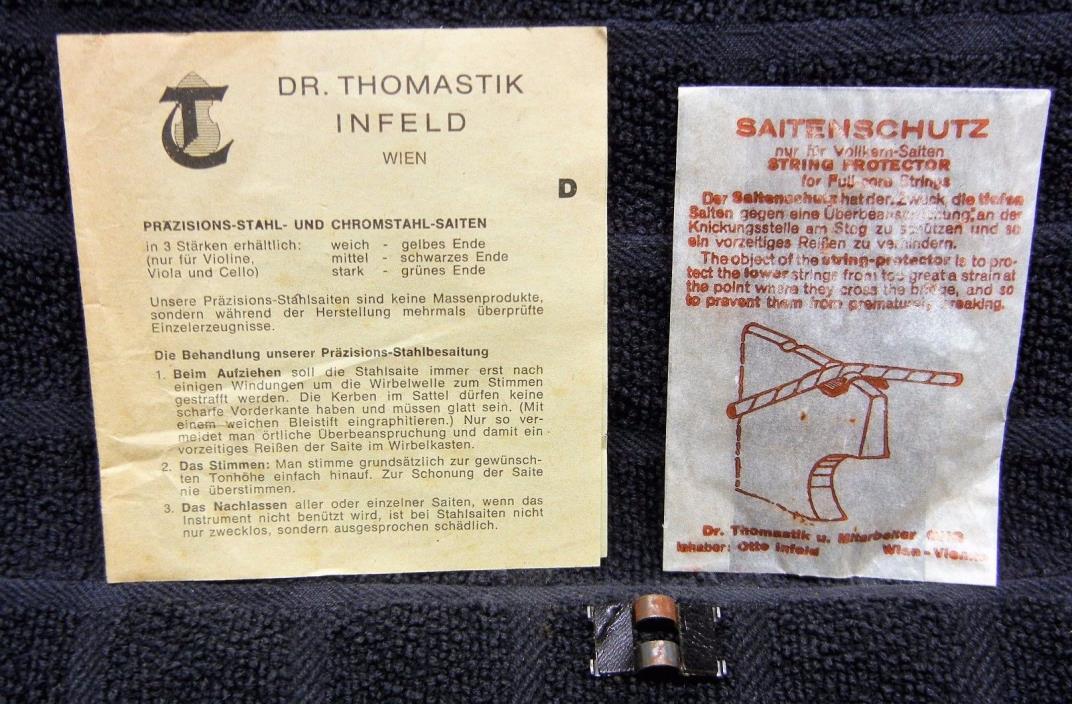 Vintage THOMASTIK INFELD SAITENSCHUTZ (String Protector) Bass Viola Cello Vienna