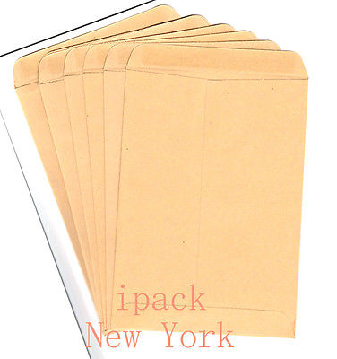 Lot of 20 brown envelopes for home & office shipping supplies size 6-1/4 x 9''