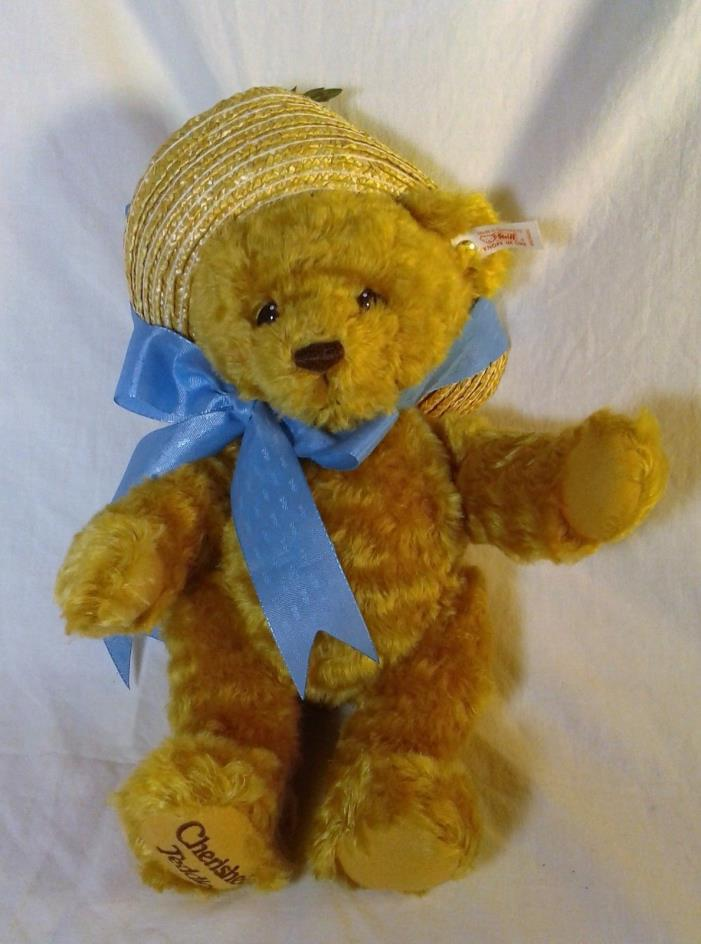 Vintage 1999 Steiff Cherished Teddy Teddies Daisy Bear Hat Original Box Papers