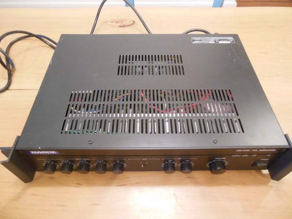 MACKIE AM 4160 P.A. AMPLIFIER 160 Watts RMS 6 inputs, Rack Mount / FULLY TESTED
