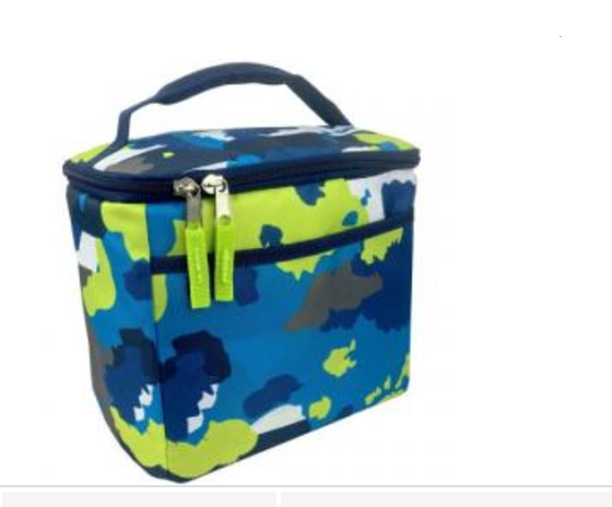 CRCKT KIDS LUNCH Box GREEN BLUE & WHITE CAMOUFLAGE!!! New with tags