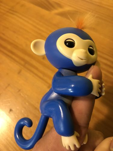 Happy Finger Baby Monkey Kids Toys Interactive Motion - Blue + FREE SHIPPING