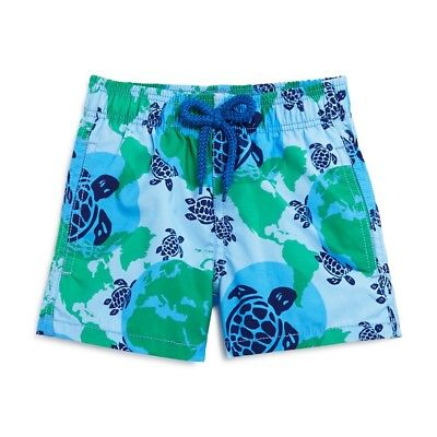 NEW VILEBREQUIN BOYS' JIM WORLD MAP DOTS SWIM TRUNKS