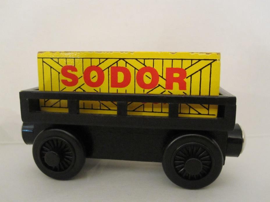 THOMAS THE TRAIN * Original Wooden CARGO CAR * USED * Britt Allcroft