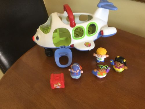Fisher Price Little People Lil Movers Airplane Lights & Sound w/People EUC