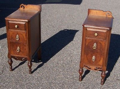 Pair of Antique Night Stands - Made From Old Vanity