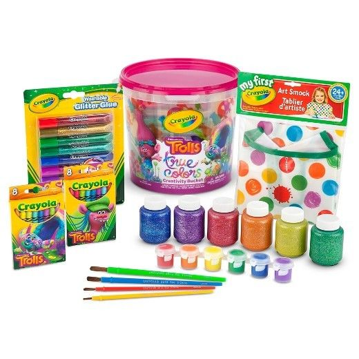 - NEW - Crayola Trolls True Colors Creativity Bucket