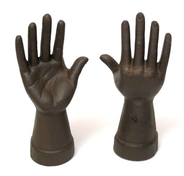 Hand Ring Holder Rust Set of 2