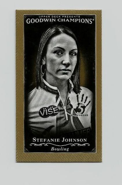 2016 U.D. Goodwin Champions Black & White Mini Gold Card #121 Stefanie Johnson