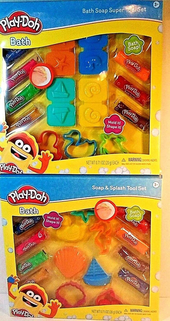 Play-Doh Bath Soap & Splash Tool Set New  ages 3 + Choice of sets
