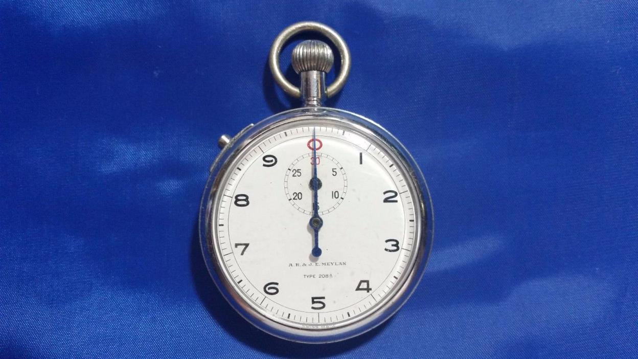 Vintage A.R. & J.E. Meylan Type 208A 7 jewels Swiss Stop Watch