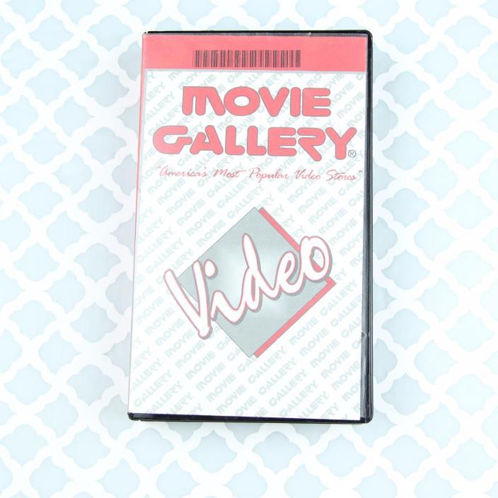 Movie Gallery VHS Case W/ Movie Braveheart (1995) R Drama Bay City, TX Store EUC