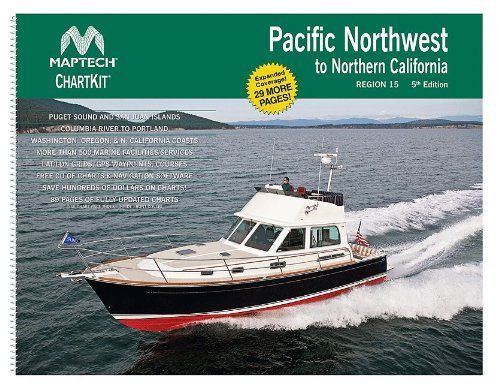Pacific Northwest to Northern California Maptech ChartKit 89 Pages and software