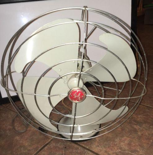 1950's Vintage GE Vortalex Fan 18 Inch Oscillating 3 Speed