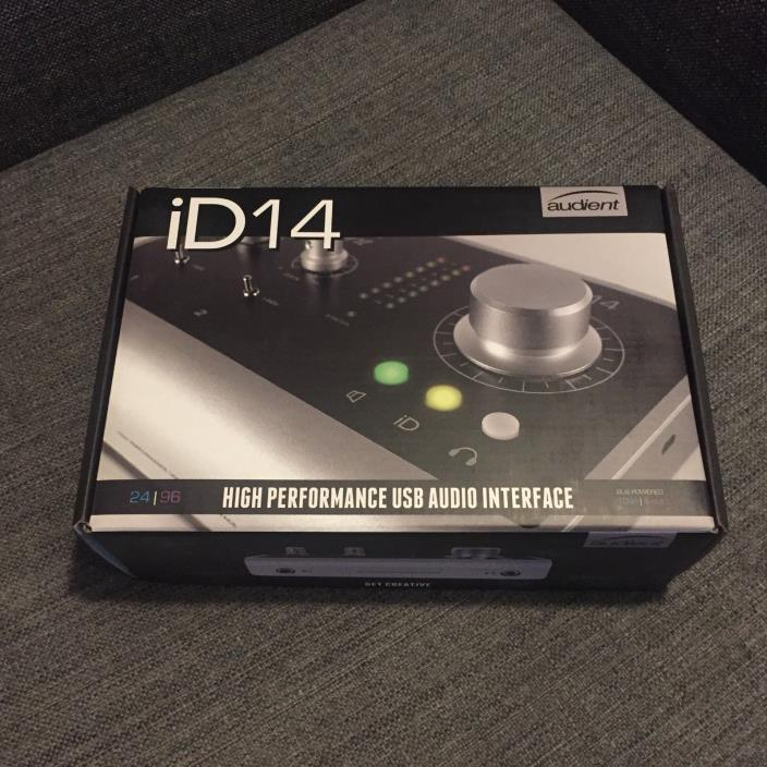 Audient ID14 High Performance 2-Channel USB Desktop Audio Recording Interface
